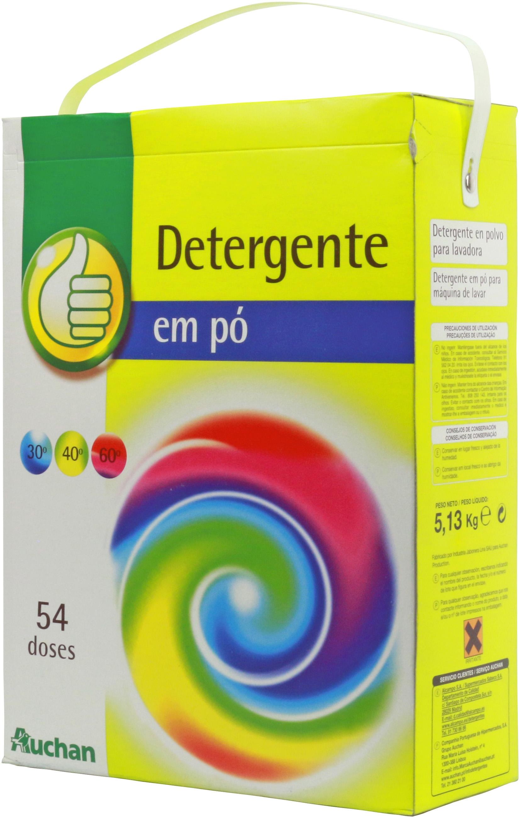 An Lisis De Auchan Alcampo Pulgar Detergente En Polvo  ~ Mejor Detergente Lavadora Calidad Precio