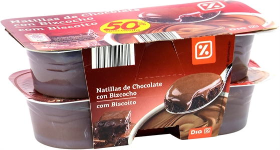DIA NATILLAS DE CHOCOLATE CON BIZCOCHO. | Test y Opiniones DIA NATILLAS DE CHOCOLATE CON BIZCOCHO. | OCU